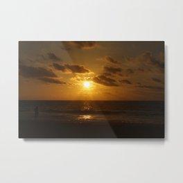 Golden Rays Metal Print