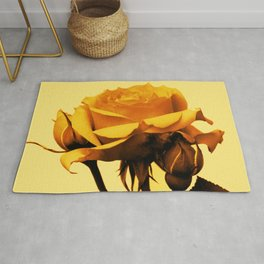 Vintage Yellow Rose and buds Rug