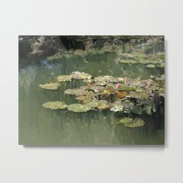 Lotus Pond 2 Metal Print