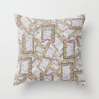 cookie Throw Pillows featuring Cookie by Kris alan apparel