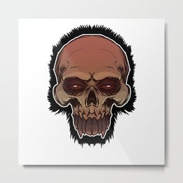 Skull cartoon Metal Print