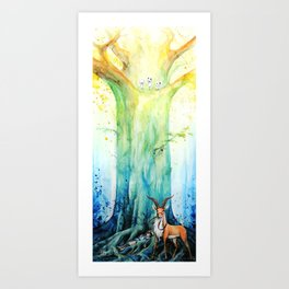 """At the tree's feet"" Art Print"