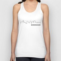 alabama Tank Tops featuring Birmingham, Alabama by Fabian Bross