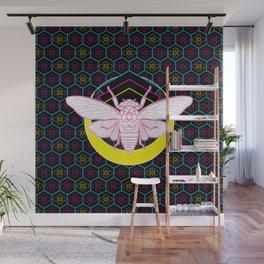 Geometric Cicada Wall Mural