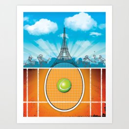 Paris Tennis Art Print