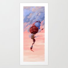 The Old Man in The Balloon Art Print