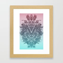 Soft Lines(P&B) Framed Art Print