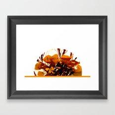 Zinnia flower Framed Art Print
