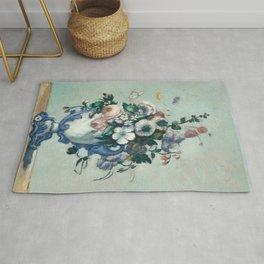 Paul Cézanne - Flowers in a Rococo Vase - Fleurs dans un Vase Rococo Rug