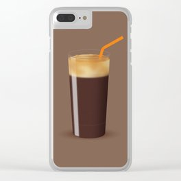 Shaken Not Stirred - Iced Coffee Illustration Clear iPhone Case