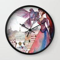 guardians Wall Clocks featuring Guardians by Ghie