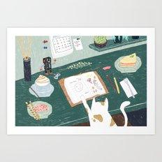 Dear Diary Art Print