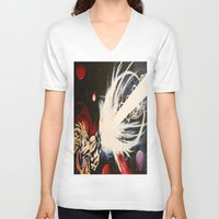 dbz V-neck T-shirts featuring DBZ Galaxy by DrewzDesignz