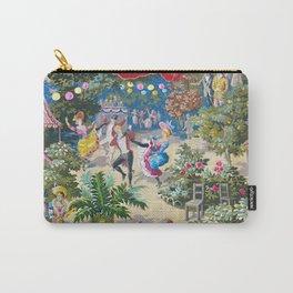 1899 French Art Nouveau Festive Paris Luxembourg Gardens Watercolor, 'Fin de Siecle' Carry-All Pouch
