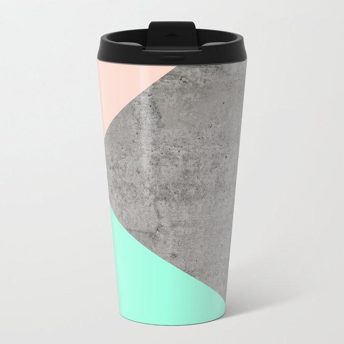 Concrete Collage Metal Travel Mug