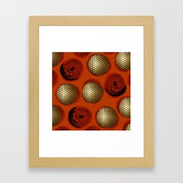 ORANGE RED GOLD Framed Art Print