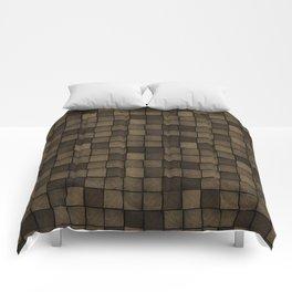 Wood Blocks-Chocolate Brown Comforters