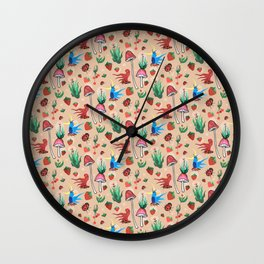strawberry thieves Wall Clock