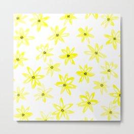 Yellow daisy flowers Metal Print