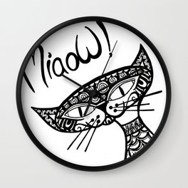 Miaow! Wall Clock