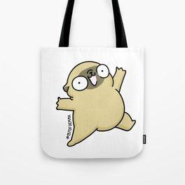 Mochi the pug jumping yay! Tote Bag
