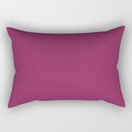 Dark Raspberry - solid color Rectangular Pillow