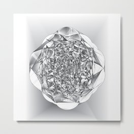 Diamond Rose Metal Print