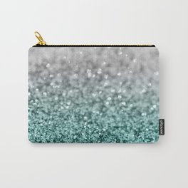 Silver Teal Ocean Glitter Glam #1 #shiny #decor #art #society6 Carry-All Pouch