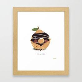 Orange Donut Framed Art Print