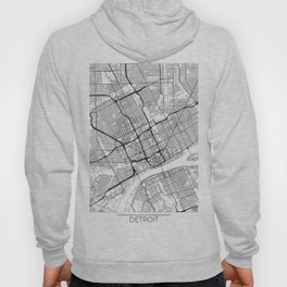 Detroit Map White Hoody