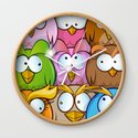 funny owl cartoon background by doomko