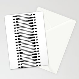 Hand Drawn Abstract- black Stationery Cards
