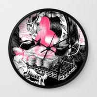 peter pan Wall Clocks featuring Peter Pan. by Samuel Guerrero