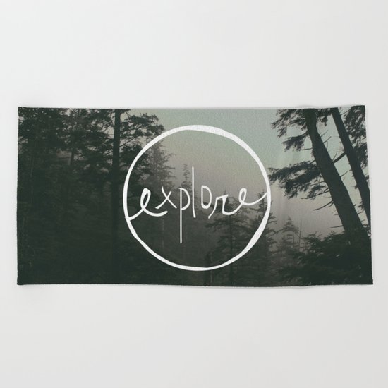 Explore Oregon Forest Beach Towel
