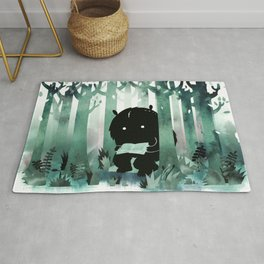 A Quiet Spot (in green) Rug