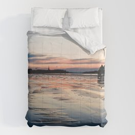 Saint Malo au coucher du soleil / Sunset in Saint Malo Comforters