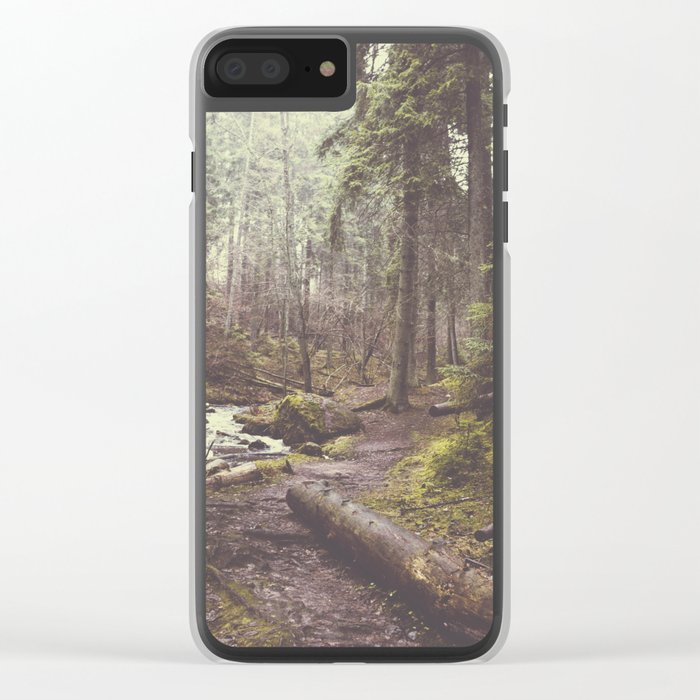 The paths we wander Clear iPhone Case