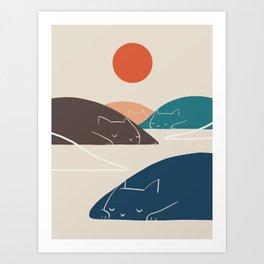 Cat Landscape 1 Art Print
