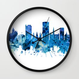 Bonn Germany Skyline Blue Wall Clock