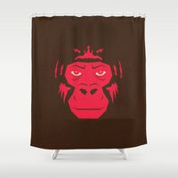 gorilla Shower Curtains featuring Gorilla by Mr. Peruca