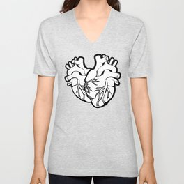 Two Hearts Unisex V-Neck