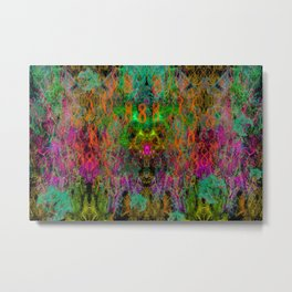 Frenetic Vibrations of Butterfly Wings (abstract, psychedelic) Metal Print