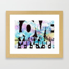 Love everyone print Framed Art Print