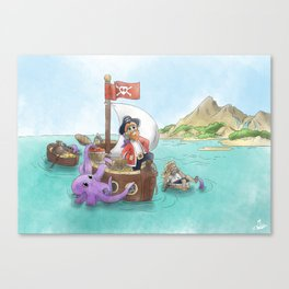 Pirate Ship Treasure Canvas Print