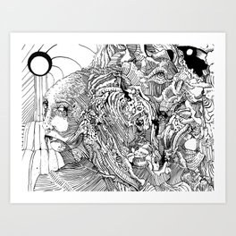 Mouth Drip Art Print