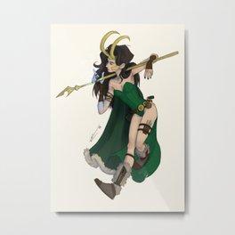 Lady Loki Metal Print