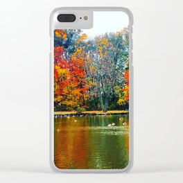 Autumn of Our Contentment Clear iPhone Case