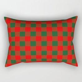 Jumbo Holly Red and Balsam Green Christmas Country Cabin Buffalo Check Rectangular Pillow