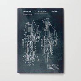 1966 - Gun barrel locating structure Metal Print