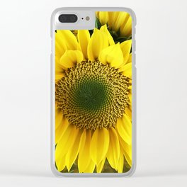 Bright, Happy Sunshine Sunflower Clear iPhone Case